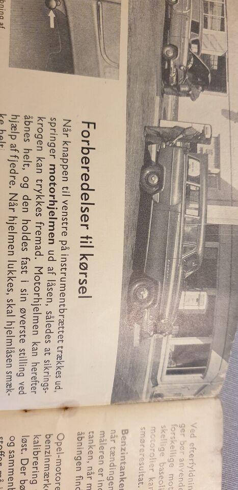 Instruktionsbog, Opel Olympia