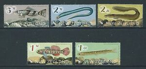 NEW ZEALAND 2017 FRESHWATER FISH SET OF 5 UNMOUNTED MINT, MNH