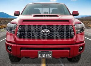 Fits 2018-2021 Toyota Tundra Gloss Black Grille Insert Grill Overlay Trim SR SR5