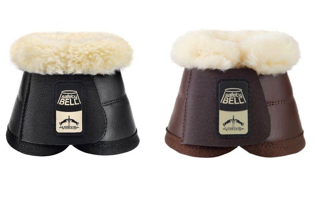 Verojous STS piel forrada Bell sobre alcance se extralimite showjumping botas Negro Marrón