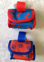 Pet Poop Bag Holder/dispenser In Two Styles W/leash Attachment-includes 15 Bags