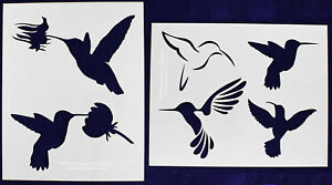 2 piece set hummingbird stencils mylar 14 mil painting crafts