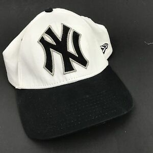 6cca3cf48dd New York Yankees New Era Hat Baseball Cap Fitted Men S M White Black ...