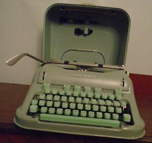 Vintage HERMES 3000 Cursive Typewriter REFURBISHED FREE SHIPPING NEW PLATEN ROLL
