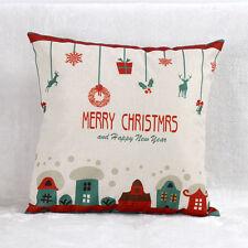 Vintage Christmas Santa Claus Sofa Bed Home Decor Pillow Case Cushion Cover New