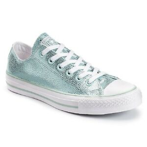 CONVERSE METALLIC GLACIER LOW-TOP SNEAKERS SHOES WOMENS SIZE 9.5 ...