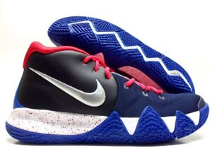 new style 3a9d2 3d853 NIKE KYRIE 4 ID COOL BLACK/MID NAVY-METALLIC SILVER SIZE ...