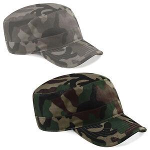 Army-Cap-Military-Beechfield-Schirmmuetze-Feldmuetze-Kappe-Camouflage-Basecap-B33