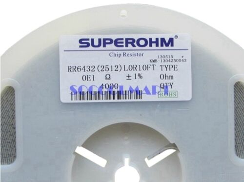 100Pcs 1/% 1W Wattage 2512 Chip SMD Resistors 0.1 Ohm Resistance