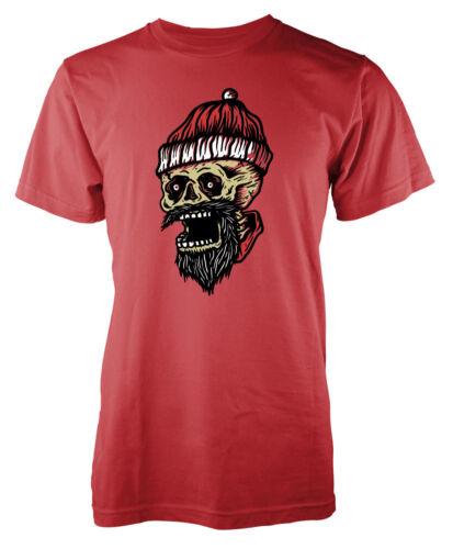 Santa Skull Father Christmas Yuletide festive adult t-shirt