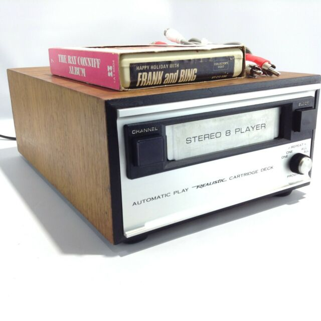 Radio Shack REALISTIC Model: TR-175B Stereo 8 Track Player Tape Deck w/RCA Cable