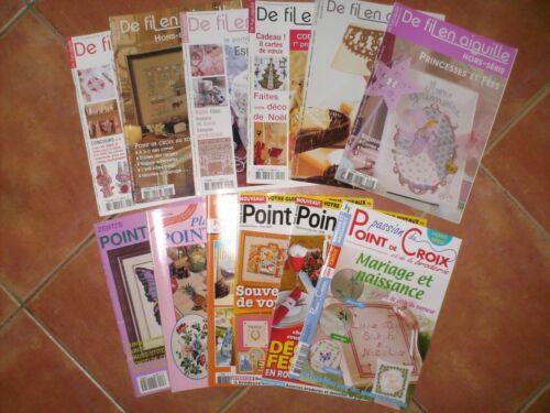 Magazine De fil en aiguille point de croix Livre Revue Modèle Grille Diagramme