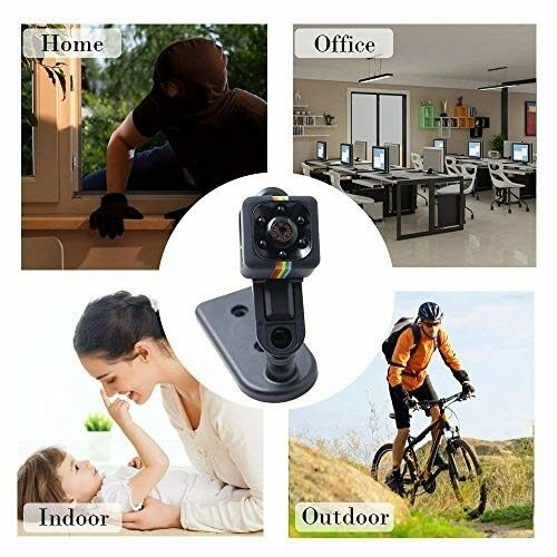 COP CAM Security Camera Motion Night Vision Recorder Black Support 32GB Card