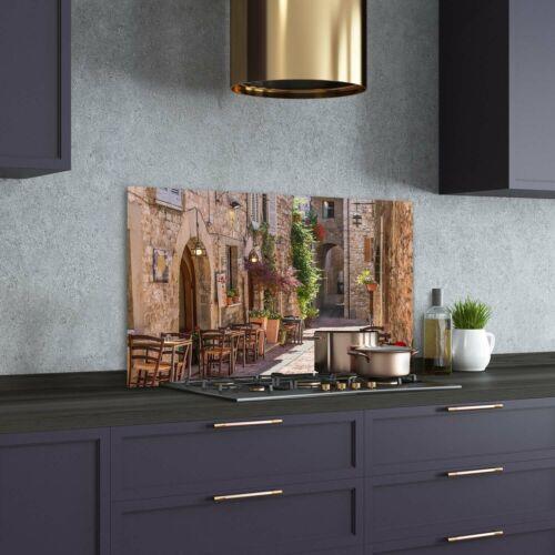 Küchenrückwand Spritzschutz aus Glas 100x70 Landschaften Italienische Straße
