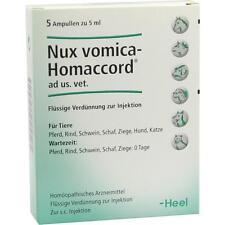 NUX VOMICA HOMACCORD ad EE.UU. veterinario. Ampollas 5 st PZN2585074
