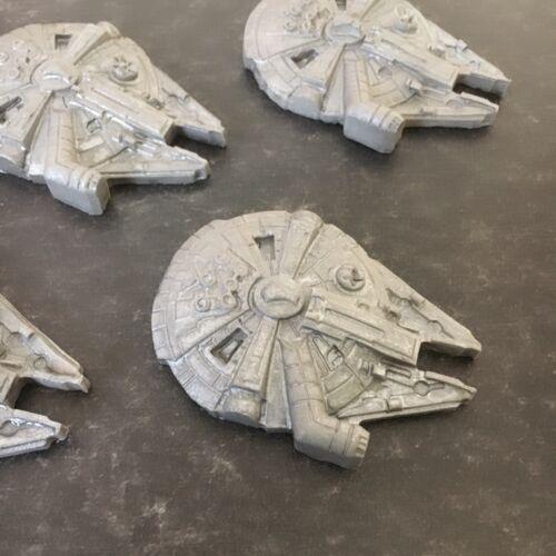 Star Wars Cake Toppers Comestibles Millennium Falcon Hecha a Mano Conjunto de 6