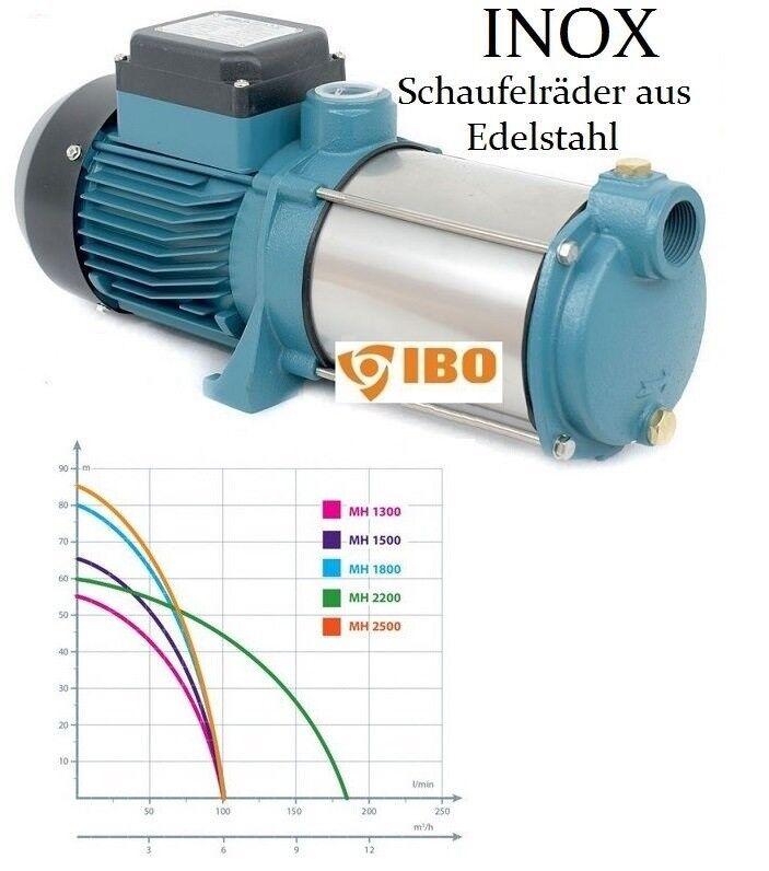Kreiselpumpe Hauswasserwerk Gartenpumpe INOX 1300 Watt Watt Watt 6000 m. Pumpensteuerung b65b74