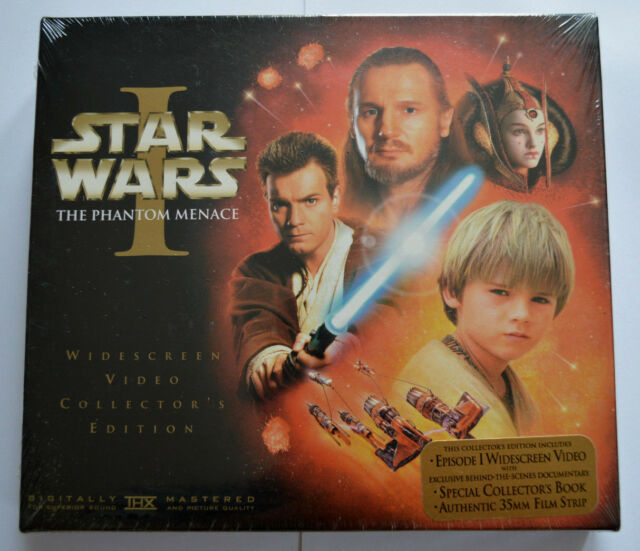NEW MISB STAR WARS EPISODE 1 The Phantom Menace widescreen Collector's VHS