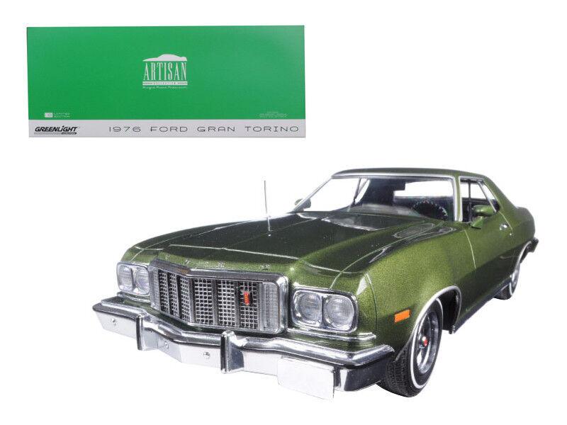 1   18 Grünlight ford gran torino 1976 ein diecast modell auto metallic - grünen 19018