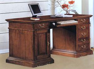 Scrivania scrittoio porta pc in legno colore noce for Scrivania legno