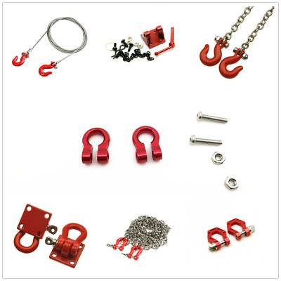 Alloy Hitch Tow Shackles Hooks For RC 1//10 AXIAL SCX10 D90 Car Crawler Part