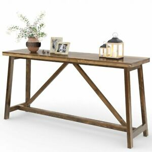 Enjoyable Details About Tribesigns 59 Extra Long Rustic Console Table Solid Wood Sofa Entry Table Pabps2019 Chair Design Images Pabps2019Com