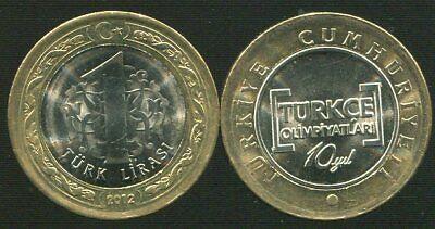 TURKEY 1 LIRA 2009 EAGLE BIRD COIN UNC