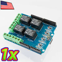 [1x] Four Channel 125v 12a Relay Shield 5v Controlled Relay Shield For Arduino