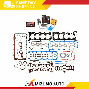 std sizes Engine Rering Kit compatible with Ford Truck F150 4.6 4.6L 1997 1998 99 2000 bearings gaskets+Rings