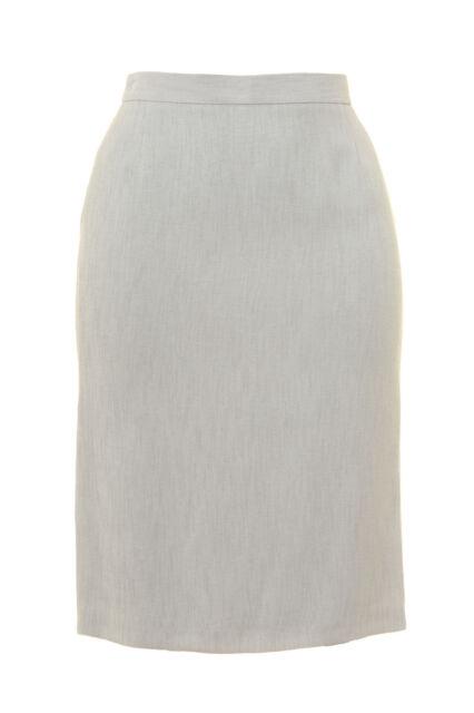 Busy Light Grey Pencil Skirt Linen Look
