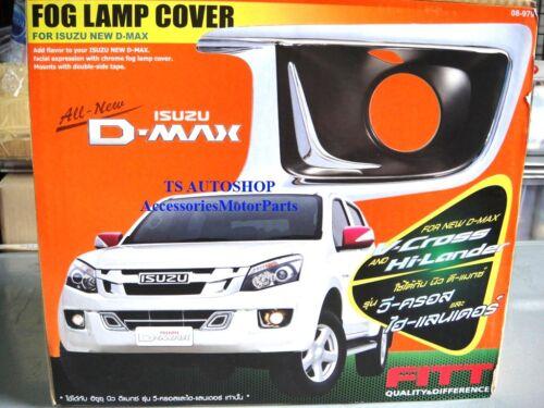 FITT CHROME FOG LIGHT LAMP COVER TRIM FOR ALL NEW ISUZU D-MAX 2012 PICK UP V.2