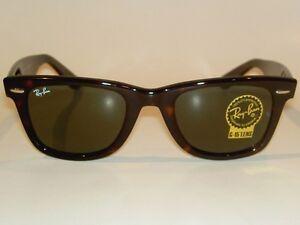 93840f4f62b32 New RAY BAN Original WAYFARER Sunglasses RB 2140 902 Tortoise Frame ...