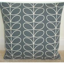 "16"" Cushion Cover Orla Kiely Linear Stem Cool Grey and Ivory Cream Retro 16x16"
