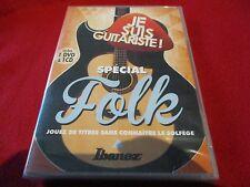 """COF DVD + CD NEUF """"JE SUIS GUITARISTE - SPECIAL FOLK"""" sans connaitre le solfege"""