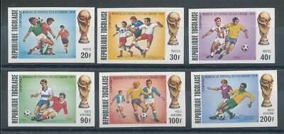 237266 Sport & Spiel Togo Nr.1017-1022b** Fußball Wir Haben Lob Von Kunden Gewonnen