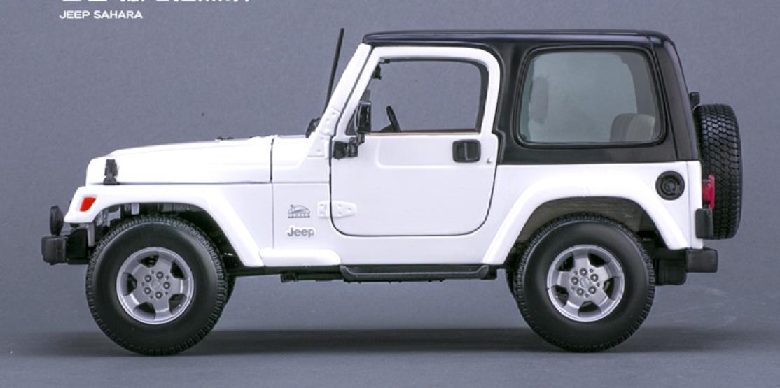 MAISTO 1 18 JEEP Wrangler Sahara blanc Diecast voiture modèle de véhicule NEW IN BOX
