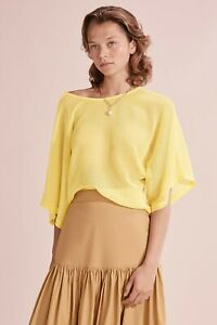 Country Road Mesh Kimono Sleeve Top - Lemon