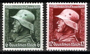 DR-Nazi-3rd-Reich-Rare-WW2-Stamp-Hitler-Helmet-Hero-Day-Memory-Batle-Signature