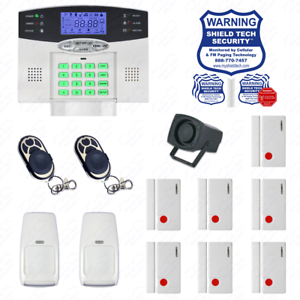 Kit Alarma Inalámbrica Casa Sistema De Seguridad pantalla con retroiluminación indicador de voz Enchufe EE. UU. ha