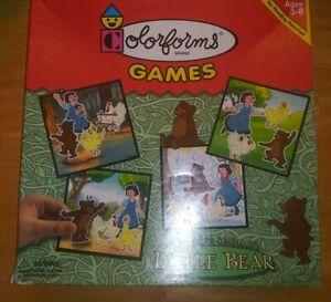 1999 COLORFORMS GAMES 77959 LITTLE BEAR by MAURICE SEDAK COLORFORM PLAYSET w/BOX