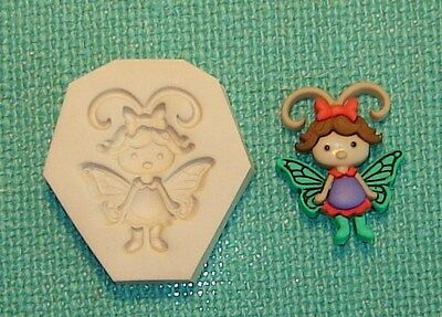 0 S//H AFTER 1st item #3 Baby Girl Lady Bug Pixie Fairy Polymer Clay Mold CUTE