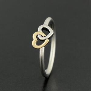 anillo pandora corazones entrelazados