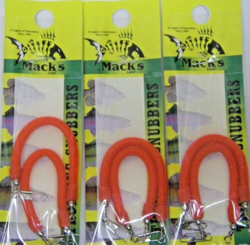 """MACK/'S LURES TROLLING SNUBBERS 1//8 X 3 1//2/"""" BLOOD RED #88102 3 PACK"""