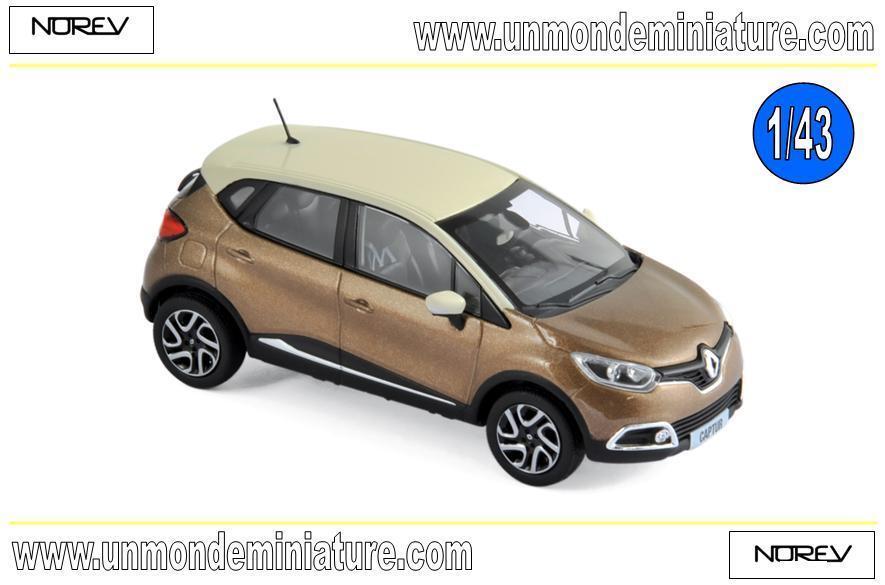 Renault Captur 2013 marron & Ivory  NOREV - NO 517774 - Echelle 1 43