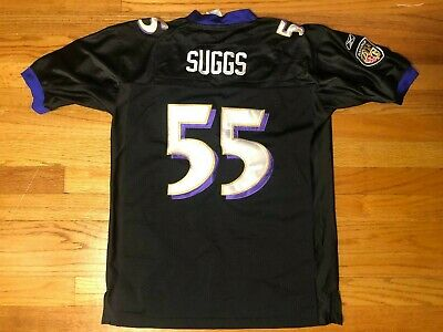 Youth XL (16-18) Vtg Reebok Stitched Terrell Suggs #55 Black Jersey NFL   eBay
