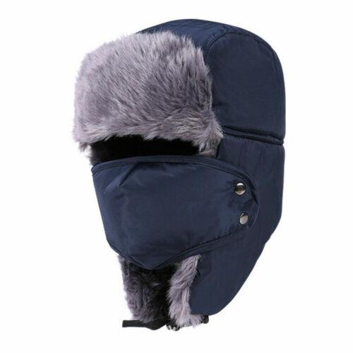 Winter Fur Windproof Hats Thick Warm Cap Face Head Cover Women Men Snow Hat