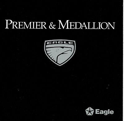 1988 89 Renault Eagle Medallion Premier Sales Brochure
