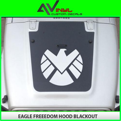 Jeep Blackout Hood Decal Matte Black Freedom Bird Fits Jeep Wrangler JK 07-18