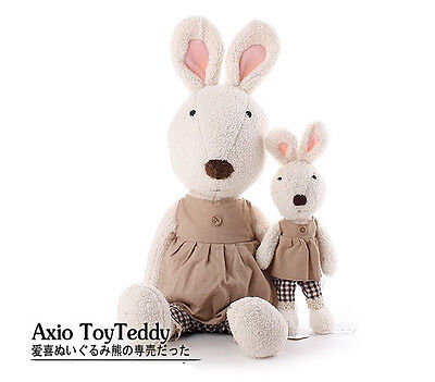 plush toy doll bunny le sucre rabbit dress with one button birthday gift 1pc