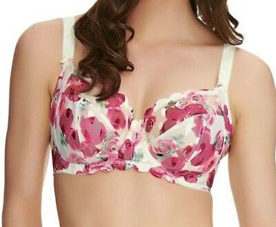 Ladies Fantasie Rosanne Underwired Side Support Full Cup Bra Ivory Floral New